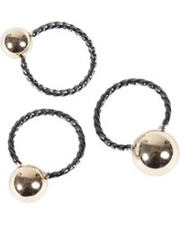 Giles & Brother Triple Twist  Ball Ring Set - Lyst
