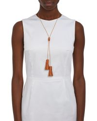 Wendy Nichol - Women's Studded Leather Bolo Tassel Necklace - Lyst