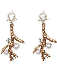 Oscar de la Renta Coral Earrings - Lyst