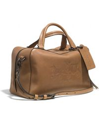 Coach Bleecker Logo Small Toaster Satchel in Leather - Lyst