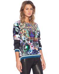 Clover Canyon Night Matador Faux Fur Sweatshirt - Lyst