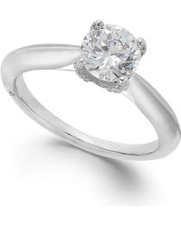 Marchesa Classic By Certified Diamond Solitaire Engagement Ring In 18K White Gold (1 Ct. T.W.) silver - Lyst
