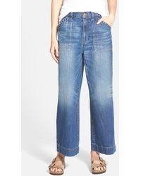 Madewell Wide Leg Culotte Jeans blue - Lyst
