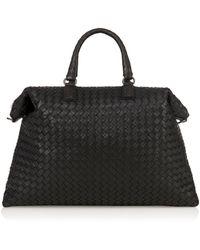 Bottega Veneta Intreccio Leather Shoulder Bag - Lyst
