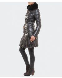 Versace Fur Collar Puffa Coat - Lyst