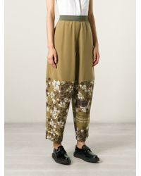 MM6 by Maison Martin Margiela Floral Print Trousers - Lyst