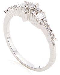 Joelle Jewellery - 18K White Gold Antique Ring - Lyst