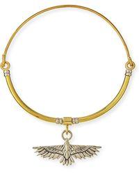 Pamela Love Aguila Collar Necklace With Pendant - Metallic
