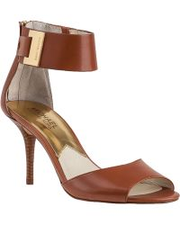 MICHAEL Michael Kors Guiliana Sandal Luggage Leather - Lyst