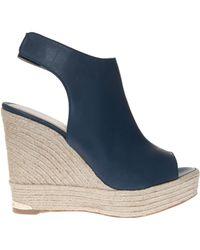Paloma Barceló Wedge Slingback Sandals - Lyst