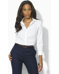Ralph Lauren Priya Threequarter Sleeve Noniron Shirt - Lyst