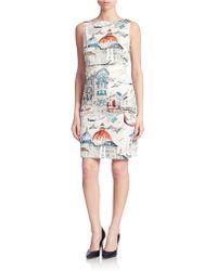Chetta B - Venice Print Shift Dress - Lyst