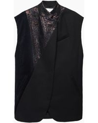 3.1 Phillip Lim | Patchwork Vest With Cut Off Sleeves | Lyst