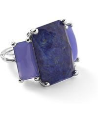 Ippolita - 925 Rock Candy 3-stone Rectangle Ring In Lapis/agate - Lyst