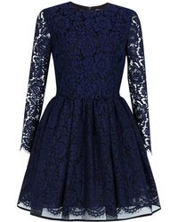 MSGM Lace Cocktail Dress - Lyst