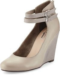 Seychelles Herestoyou Ankle-wrap Wedge - Lyst