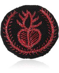 Ann Demeulemeester - Medium Heart Embroidery Cotton Blend Pin - Lyst