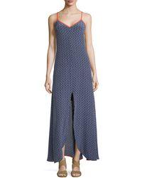 Trina Turk Sedonie 2 Print Dress Wcenter Slit - Lyst