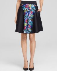 Cynthia Rowley A-Line Skirt - Bonded Blurred Floral - Lyst