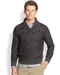 Billy Reid Murphy Shawl-Collar Sweater - Lyst