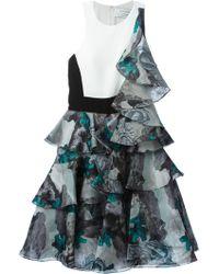 Prabal Gurung Ruffled Printed Dress - Lyst