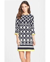 Eliza J | Print Jersey Shift Dress | Lyst