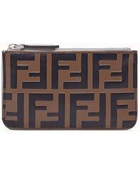 Fendi Key Case Pouch - Brown