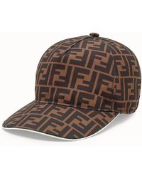 edc637ec15b Lyst - Fendi Jacquard Monogram Hat in Gray for Men