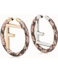 Fendi - F Is Earrings - Lyst