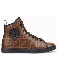 Lyst Black Top In Sneakers Monogram Hi Fendi YrU6Yq
