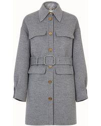 Fendi Trench Coat - Gray