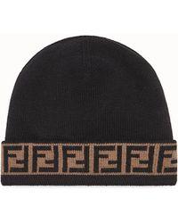 17ded8e1b61 Lyst - Fendi Monster Eyes Hat in Black for Men