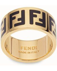 Fendi Ff Ring - Metallic