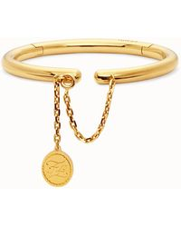 Fendi Rigid Gold-coloured Bracelet - Metallic