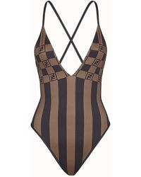 Fendi One-piece Swimsuit - Brown