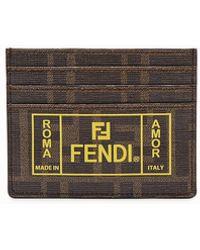 Fendi Brown Leather Card Holder