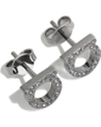Ferragamo - Gancini Crystals Earrings - Lyst