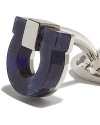 Ferragamo Gancini Cufflinks - Blue