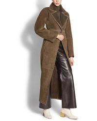 Ferragamo - Long Shearling Coat - Lyst