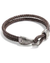 Ferragamo - Leather Bracelet With Hook Closure - Lyst