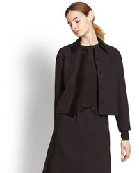 Ferragamo - Jacket With Suede Collar And Placket - Lyst