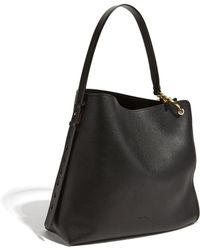 4fef8204fe5f Lyst - Ferragamo Gelly Soft Quilted Nappa Leather Shoulder Bag in Black