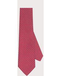 Ferragamo Corbata estampado Gancini - Verde