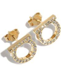 Ferragamo - Mini Gancini Earrings - Lyst