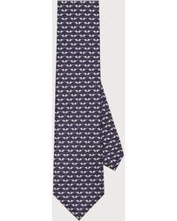 Ferragamo Krawatte mit Elefanten-Print - Blau