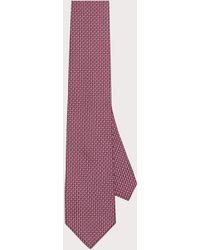 Ferragamo - Cravate imprimé motif géométrique Gancini - Lyst