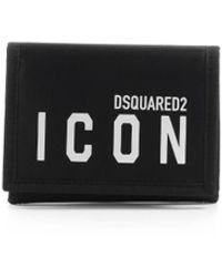DSquared² Be Icon Wit Portemonnee - Zwart