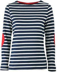 Saint James Vaujany Navy Blue Ecrù Long Sleeve Shirt