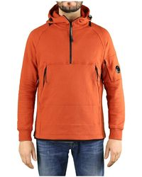 C.P. Company Diagonal Raised Fleece Gebrande Oker Hoodie - Oranje