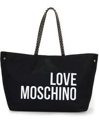 Love Moschino SCHWARZ CANVAS SHOPPERTASCHE